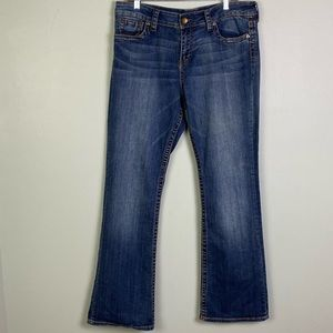 """EUC-KUT FROM THE KLOTH """"Natalie High Rise Boot Cut"""" jeans."""